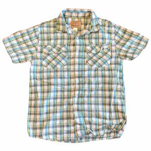 Roebuck & Co Plaid Short Sleeve Button Up- Sz M